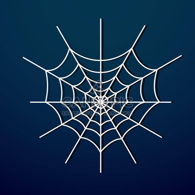 Vektor-Illustration von weißen Spinnennetz auf dunkel blauem Hintergrund - Free vector #125769
