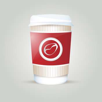 Vector illustration of paper coffee cup on white background - vector gratuit(e) #125819