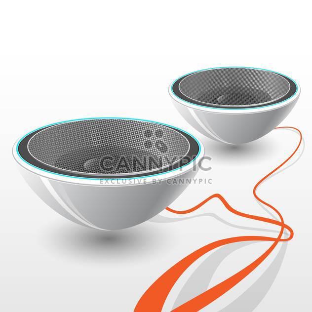 Vektor-Illustration abstrakt audio Dynamik mit orange Kabel auf weißem Hintergrund - Kostenloses vector #125829
