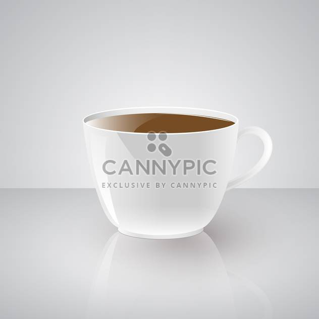 Vector illustration of hot coffee cup on white background - Free vector #125939