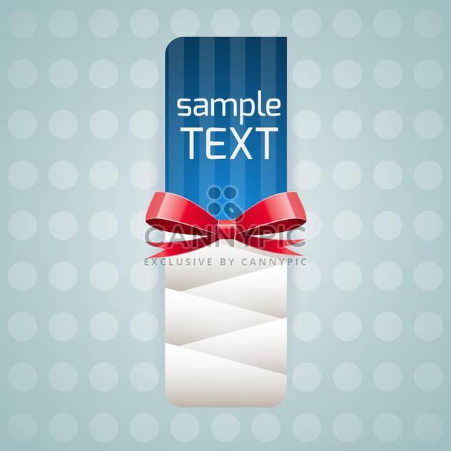 Vektor-Illustration des Banners mit roter Schleife und text - Kostenloses vector #126039