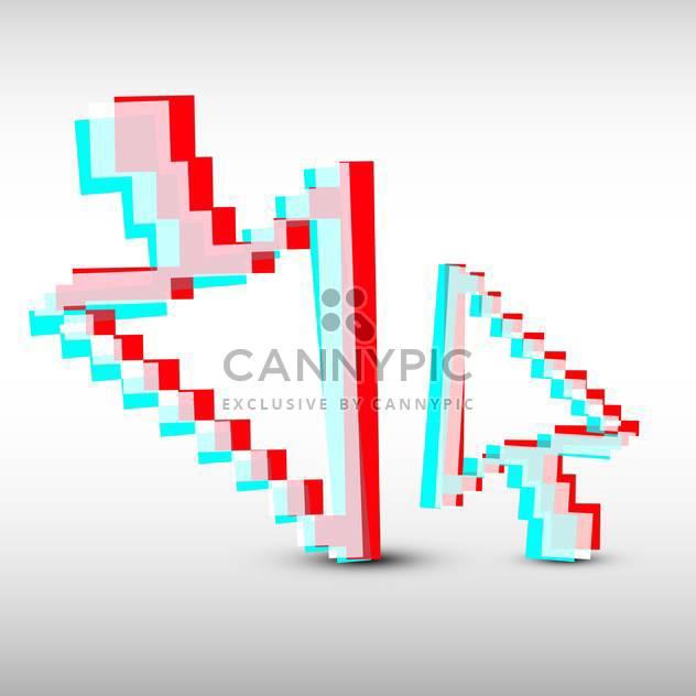 Vektor-Illustration der roten und blauen Mauszeiger auf weißem Hintergrund - Kostenloses vector #126129