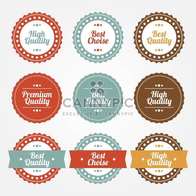 Sammlungssatz für Premium und hochwertige Runde Etiketten auf weißem Hintergrund - Kostenloses vector #126179