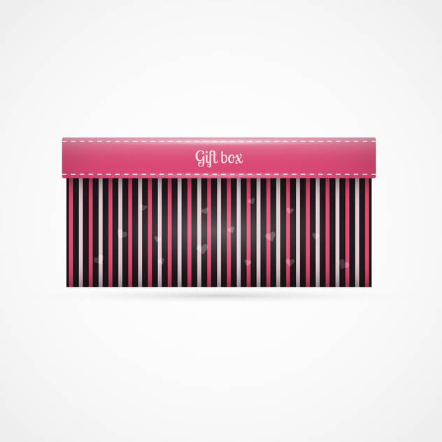 Vector background with striped gift box on white background - Free vector #126239