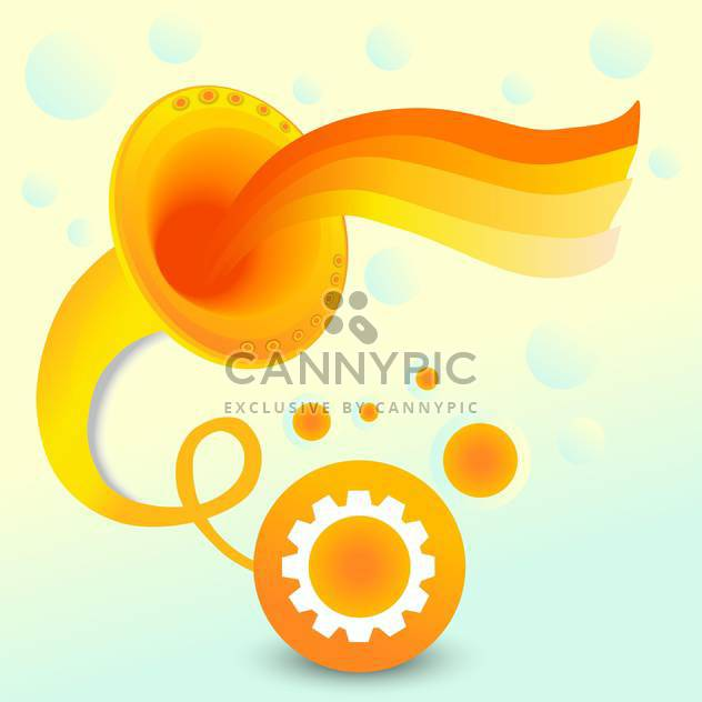 Vector abstract background with orange gramophone on colorful background - Free vector #126349
