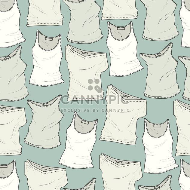 Vector blue background with white different t-shirts - Free vector #126369
