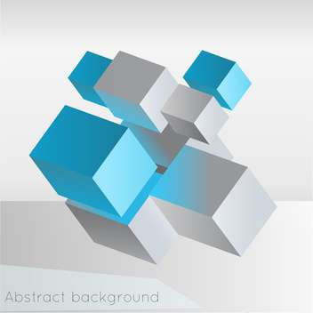 Vector illustration of abstract geometric background from cubes on white background - vector gratuit #126419