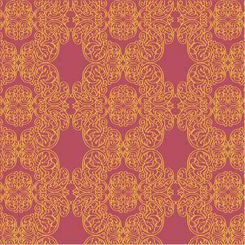 Vector vintage art background with golden floral pattern - Free vector #126439