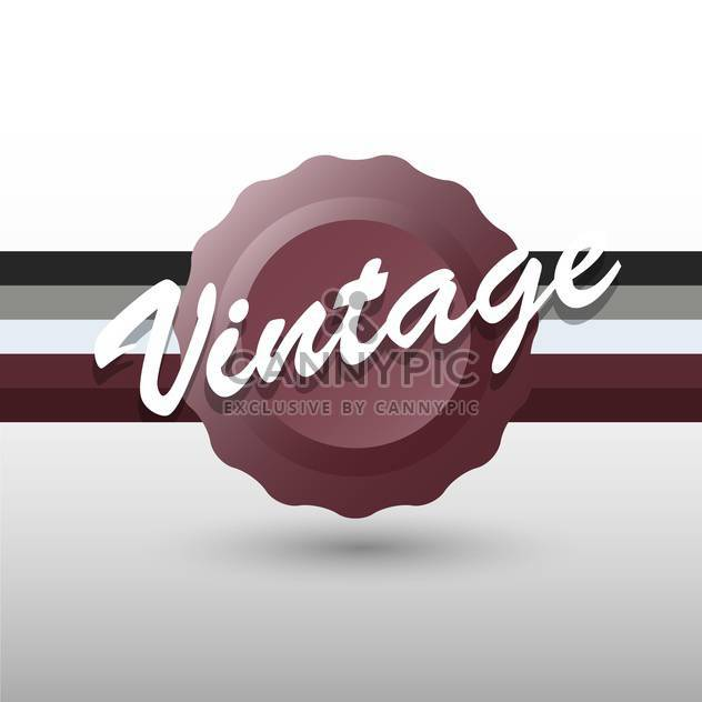 Vector retro background with brown stamp and text place - Free vector #126469