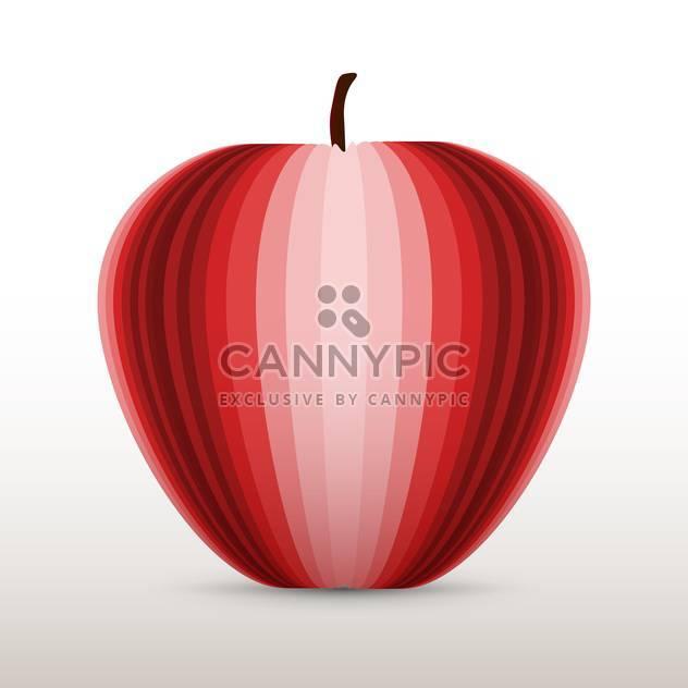 Vektor-Illustration des roten Apfels auf weißem Hintergrund - Kostenloses vector #126489
