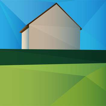 Vector illustration of colorful house and green grass - vector gratuit #126619