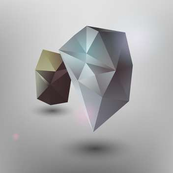 Vector illustration of geometric abstract stones on grey background - vector gratuit(e) #126629