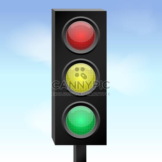Vector colorful illustration of traffic lights - Free vector #126689