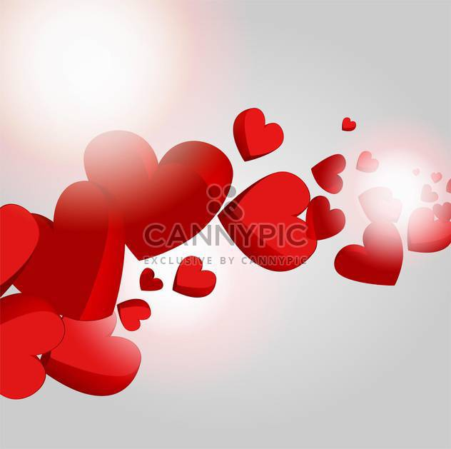 Vector holiday background with hearts for valentine card - Free vector #126719
