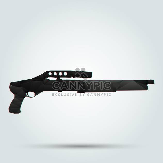 black color abstract shotgun on white background - Free vector #126729