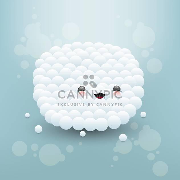 Vektor-Illustration von gesicht hübsch gemacht, weiße Blasen - Kostenloses vector #126739