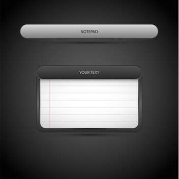 Vector illustration of screen with squared paper sheet on dark background - Free vector #126769