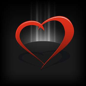 Vector black background with red heart - vector gratuit #126819