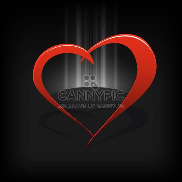 Vektor schwarzer Hintergrund mit roten Herzen - Free vector #126819