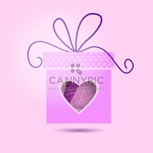 Vektor-Valentinstag-Geschenk-Box auf rosa Hintergrund - Free vector #126849