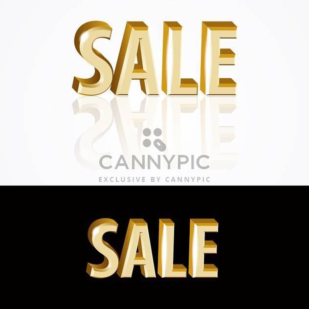 Vektor gold Verkaufs-Zeichen auf schwarzen und weißen Hintergrund - Kostenloses vector #126919