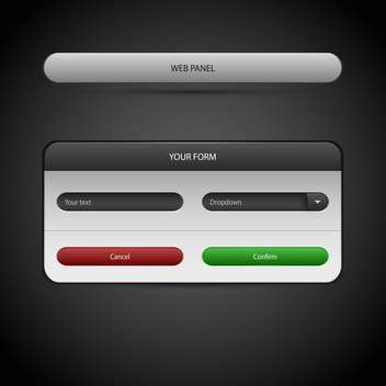 Vector illustration of web panel on grey background - Free vector #126929