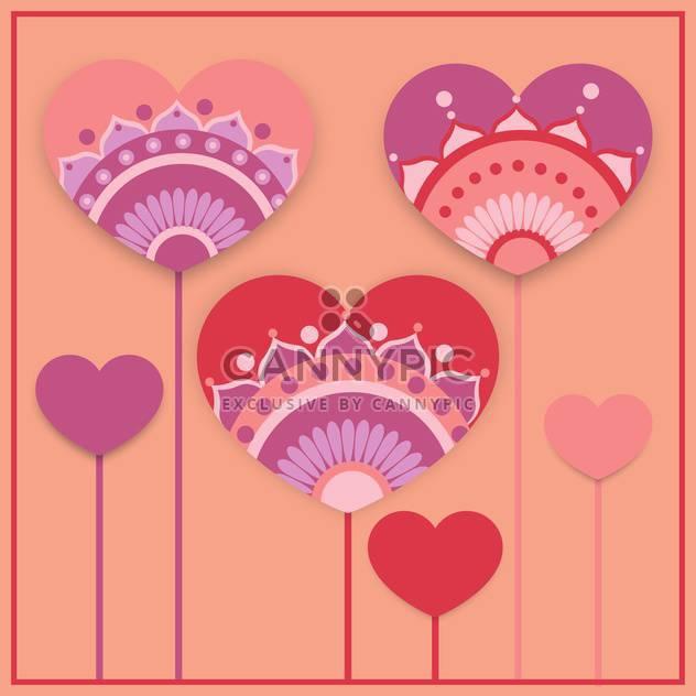 Vektor-Grußkarte mit Herzen zum Valentinstag - Kostenloses vector #127019