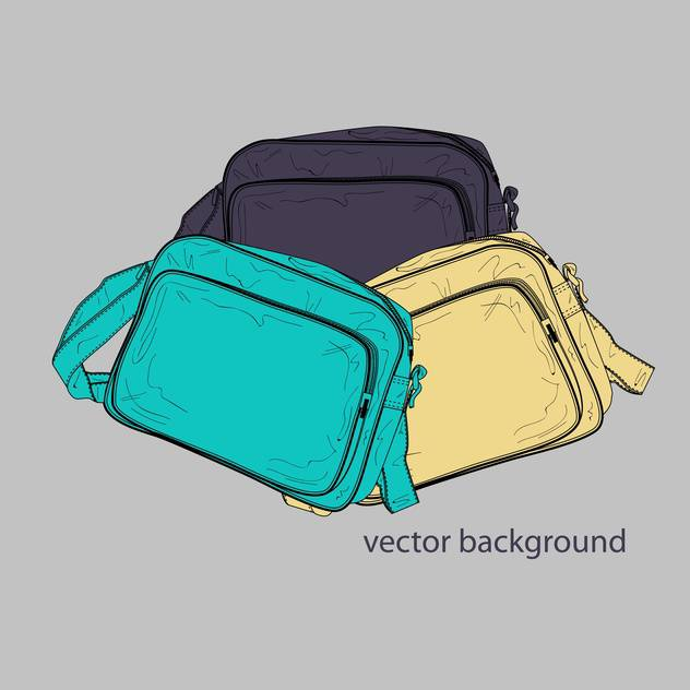Vector illustration of colorful female bags on grey background - vector gratuit(e) #127039