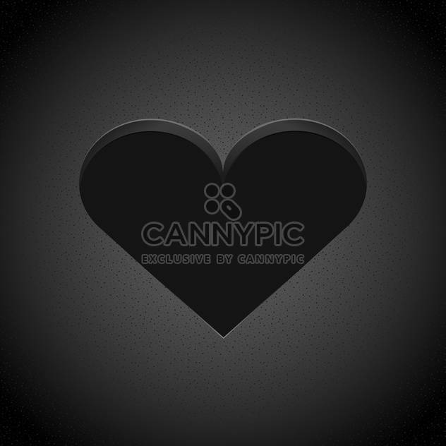 Vector black heart on dark background - Free vector #127049