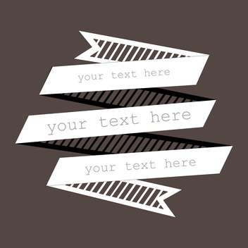 Vector background with white ribbon and text place - vector gratuit(e) #127069