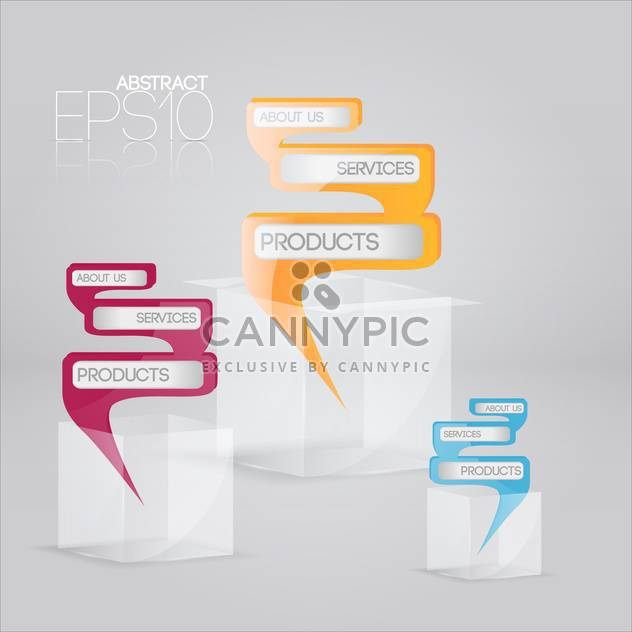 Vector set of colorful banners on white background - Free vector #127149