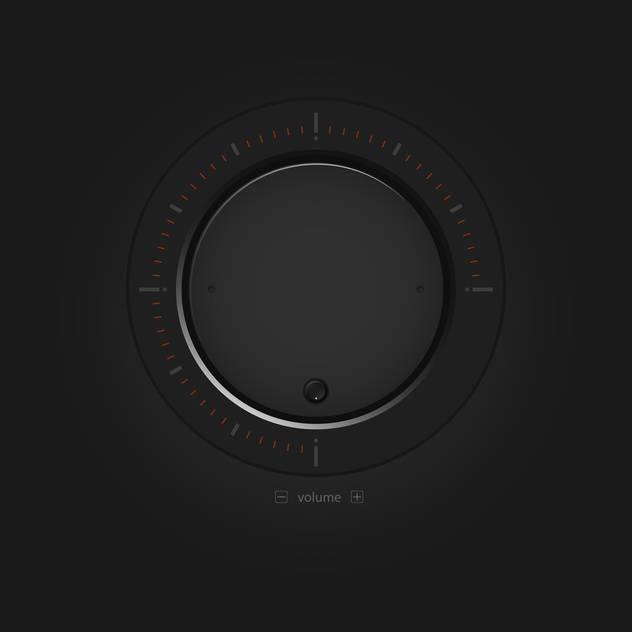 Vector black volume button - Free vector #127159