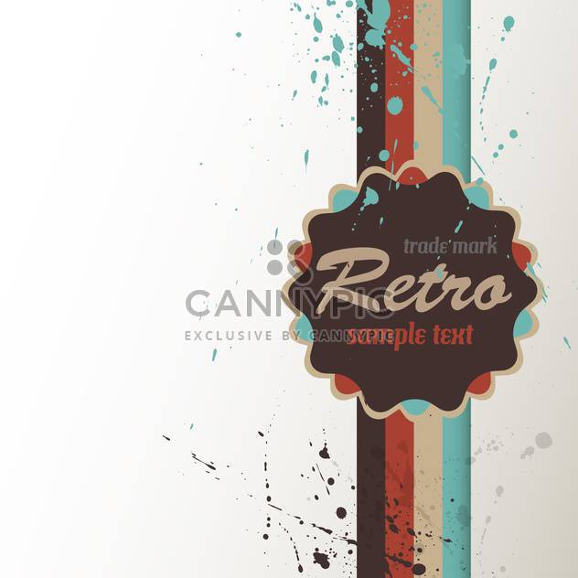 Vintage art background with label for text place - Free vector #127169