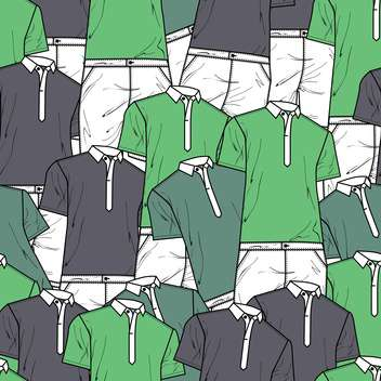 Vector background with male polo t-shirts - Free vector #127179