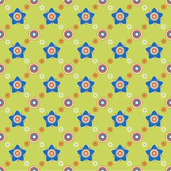 Seamless colorful flower pattern background - vector #127189 gratis