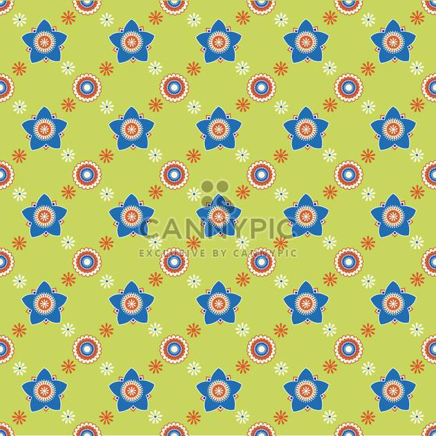 Seamless colorful flower pattern background - Free vector #127189