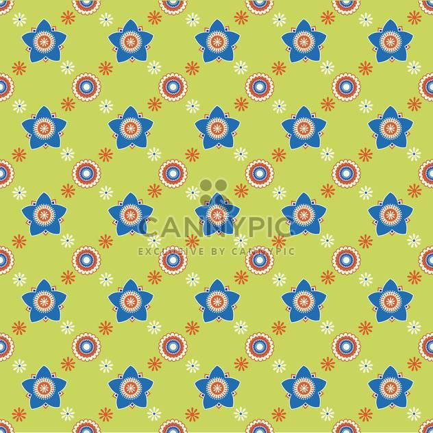 Nahtlose bunte Blume Hintergrundmuster - Free vector #127189
