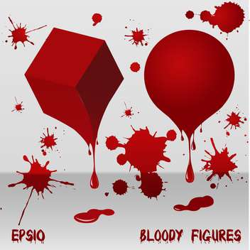 Bloody red art figures on white background - vector gratuit #127229
