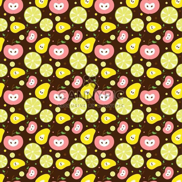 bunte Illustration des schmackhaftes Obst-Hintergrund - Free vector #127269
