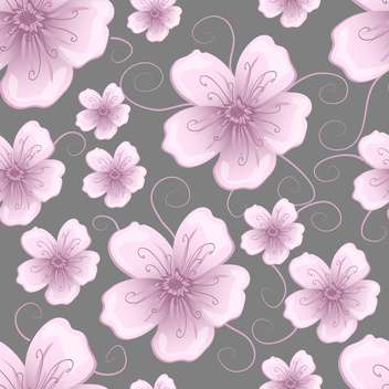 Vector floral background with cute purple flowers - Free vector #127279