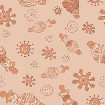 Vector illustration of antique oriental seamless pattern on brown background - vector gratuit(e) #127309