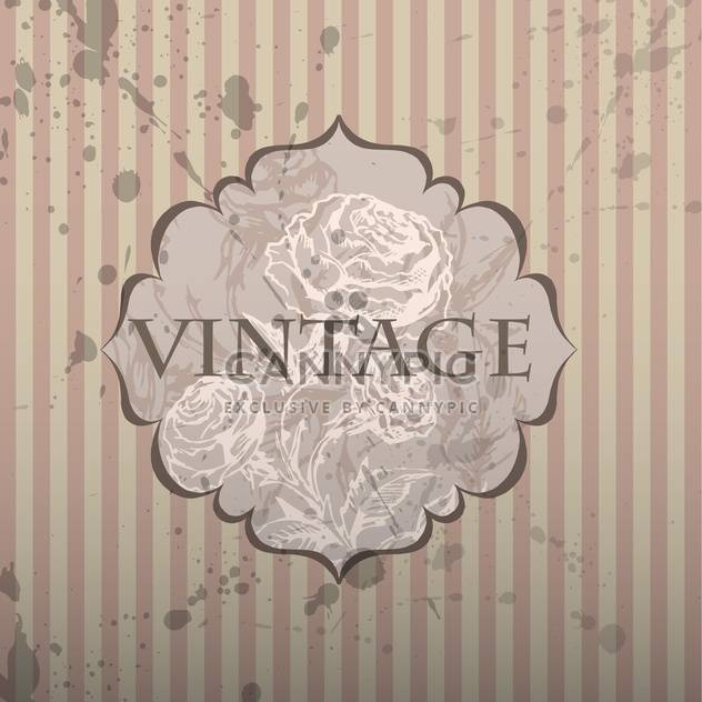 vintage frame with floral pattern and text place - Free vector #127349