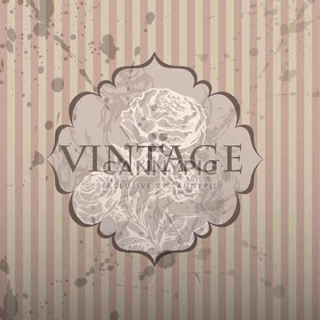 alte Rahmen mit floralem Muster und text - Free vector #127349