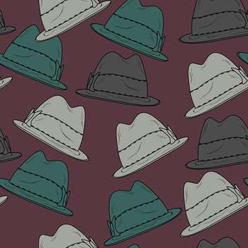 Vector background with vintage male hats - Free vector #127359