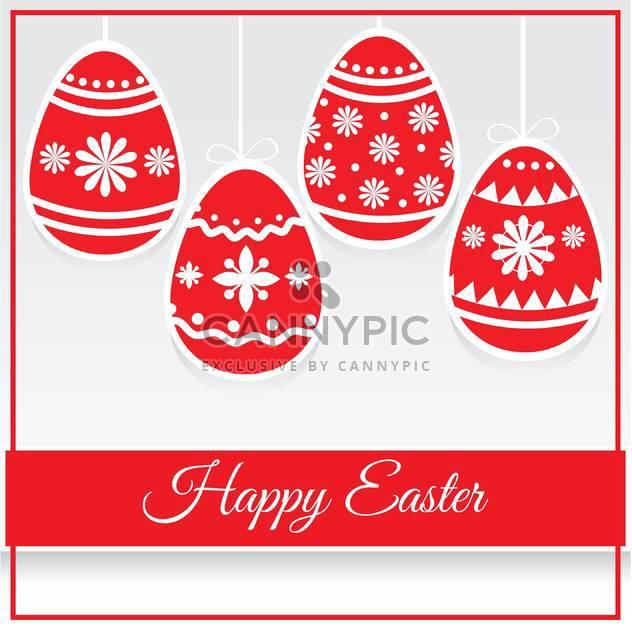 Glücklich Ostern dekorative Karte mit Rote Eier - Kostenloses vector #127409