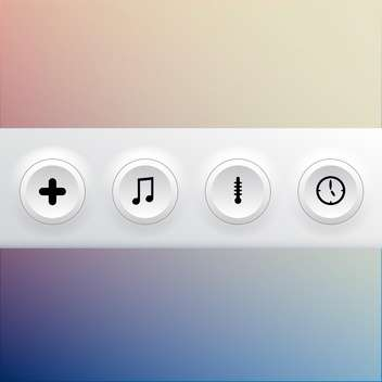 vector collection of media colorful buttons - vector gratuit #127419