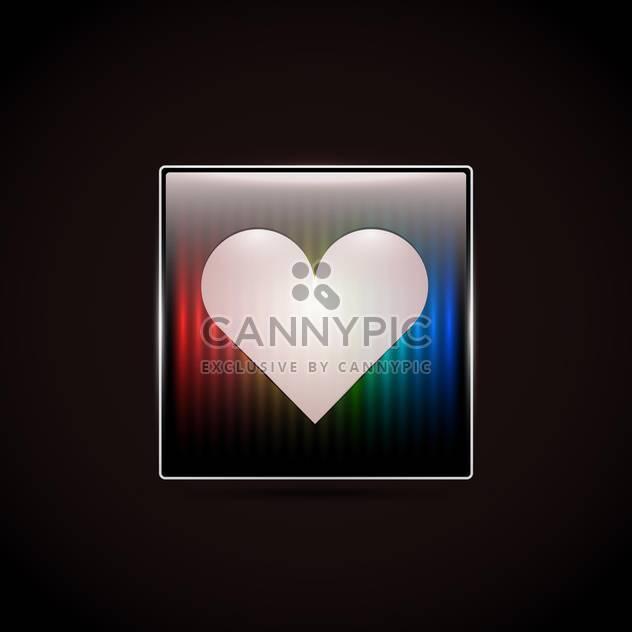 Liebe Herz Button auf schwarzem Hintergrund - Free vector #127459