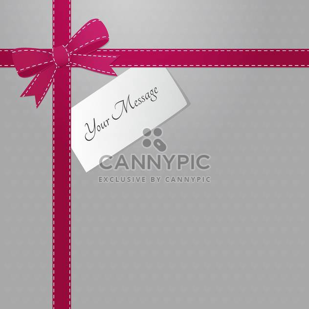 Vector background with pink bow and text place - Free vector #127639