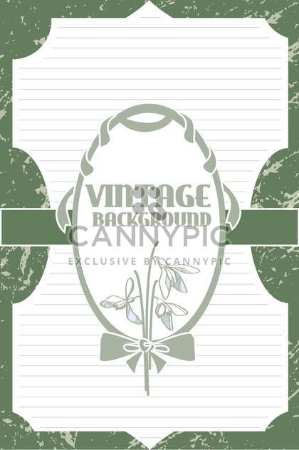 Vector vintage background with art flowers - Free vector #127669