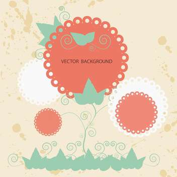 Floral background lace label - vector #127709 gratis
